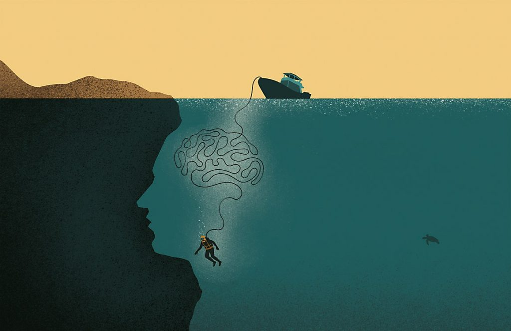 Vitro psychology illustration for Brandman University