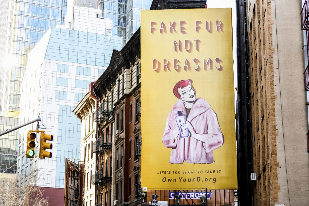 Astroglide Fake Fur Not Orgasms billboard